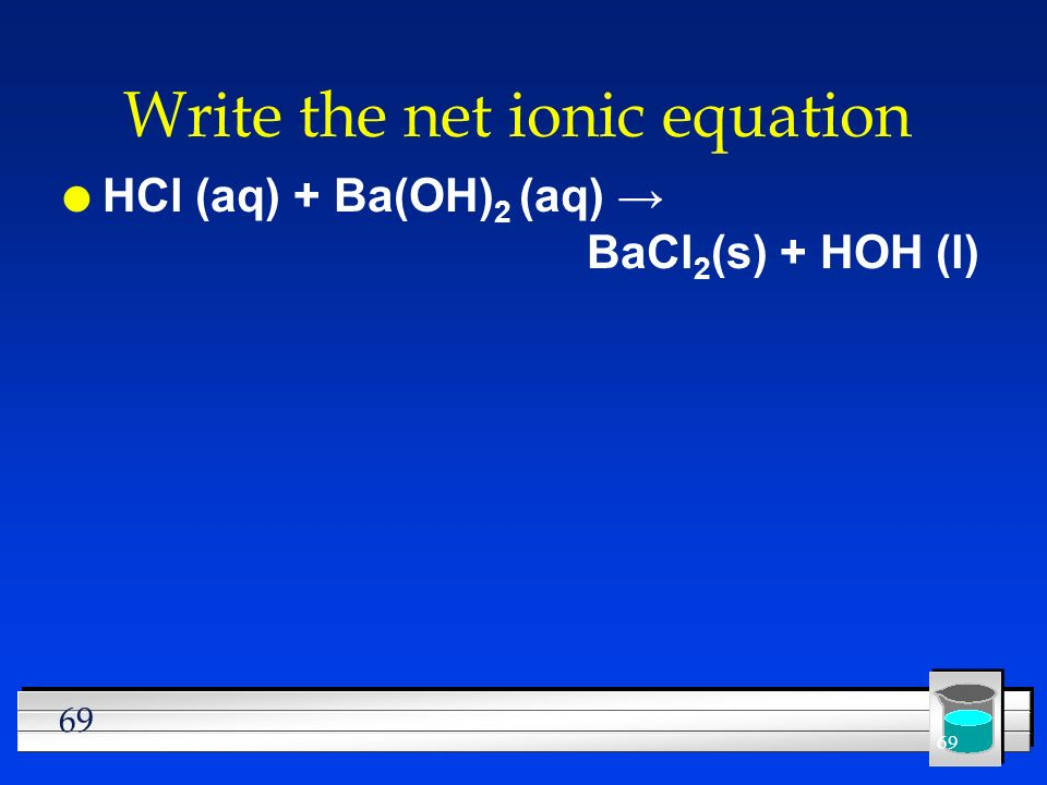 Write the net ionic equation