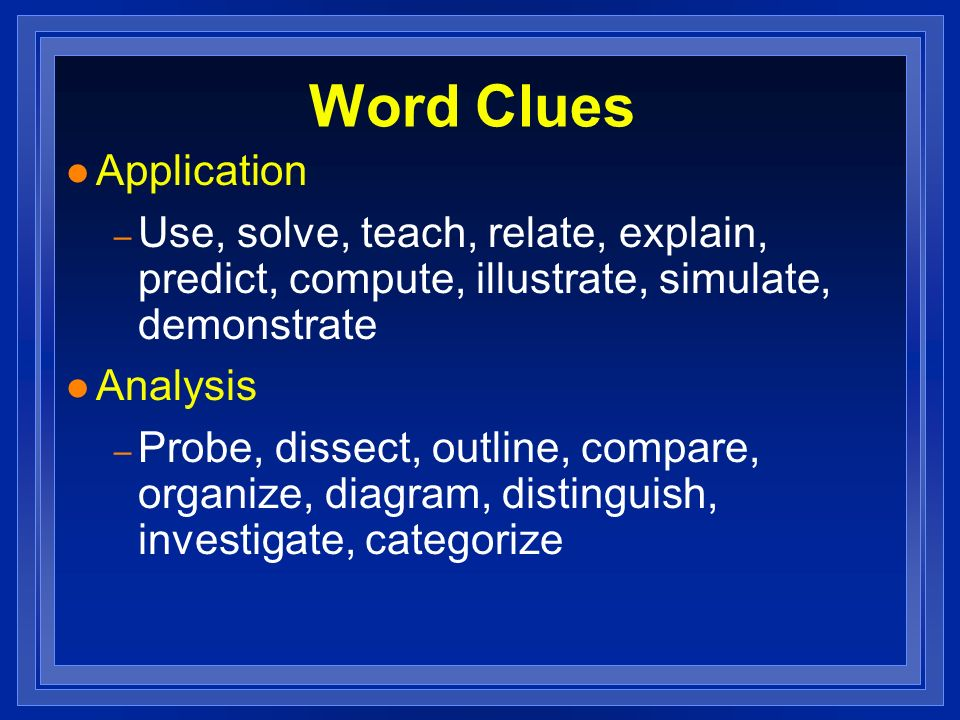 Word Clues Application