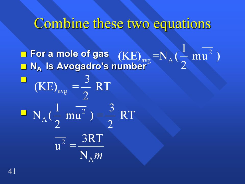 Combine these two equations