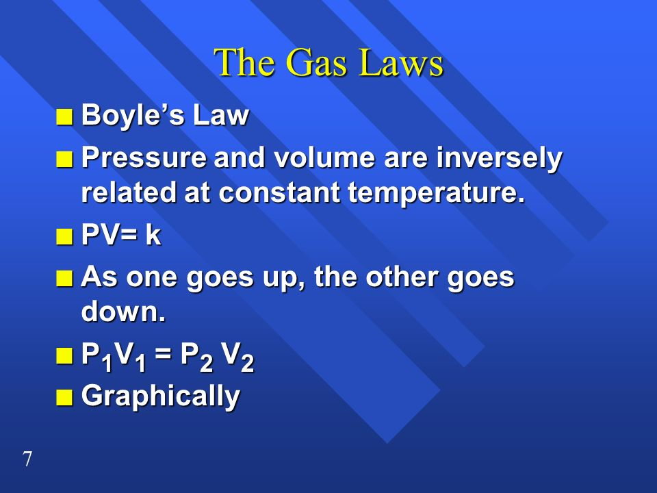 The Gas Laws Boyle's Law