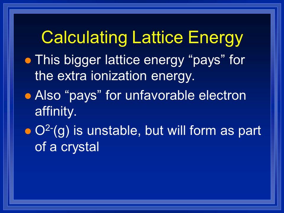 Calculating Lattice Energy