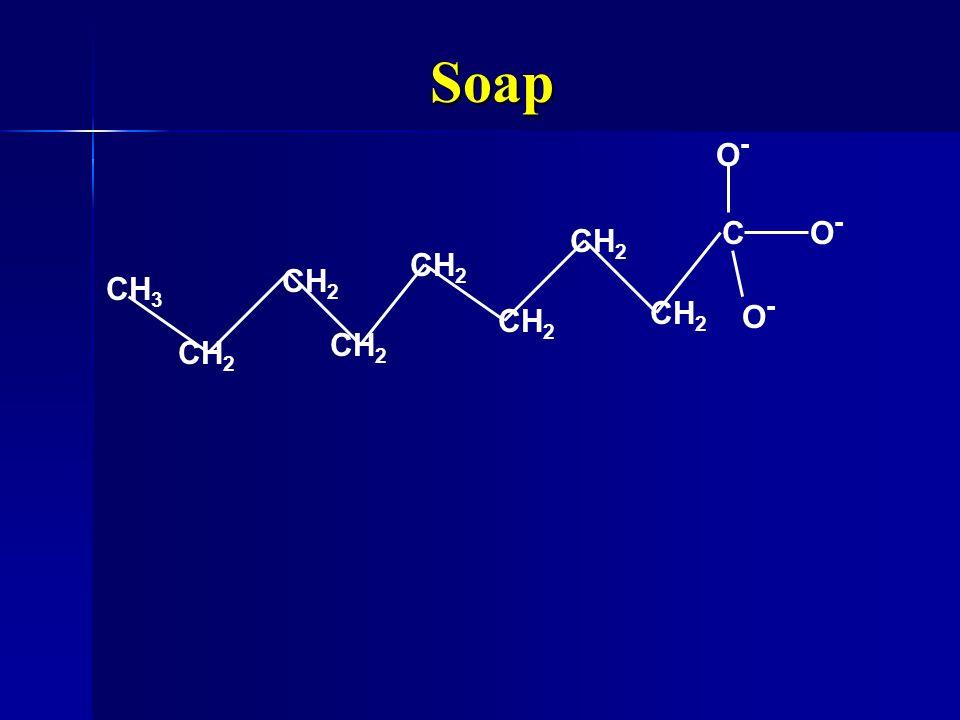 Soap C O- CH3 CH2