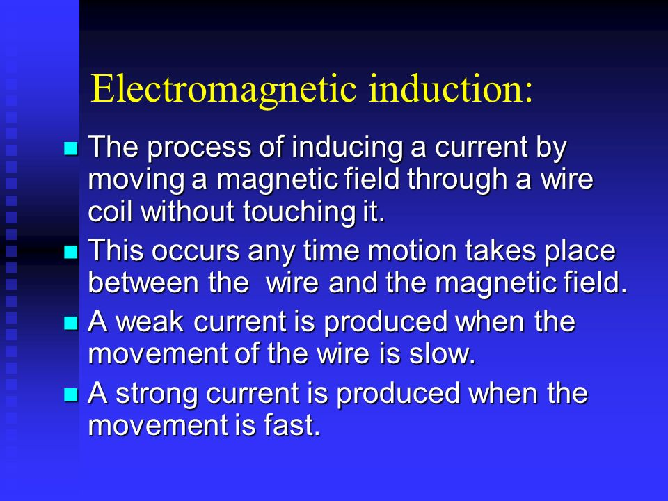 Electromagnetic induction: