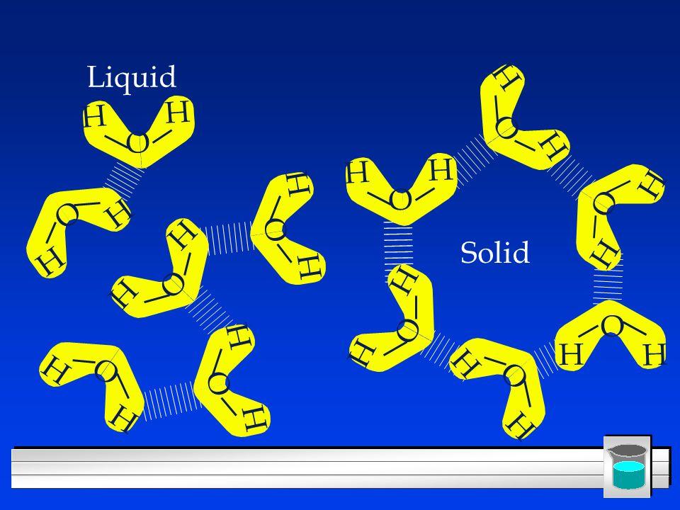 Liquid H O H O H O H O H O H O H O Solid H O H O H O H O H O