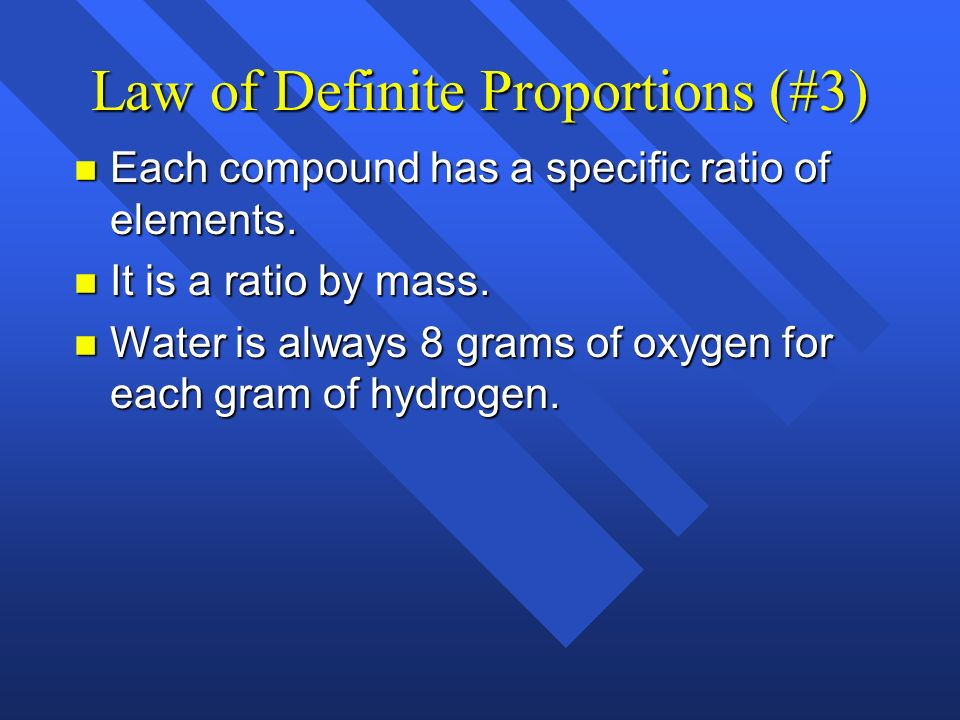Law of Definite Proportions (#3)