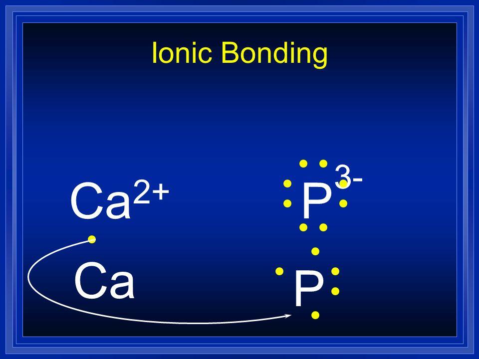 Ionic Bonding Ca2+ P3- Ca P