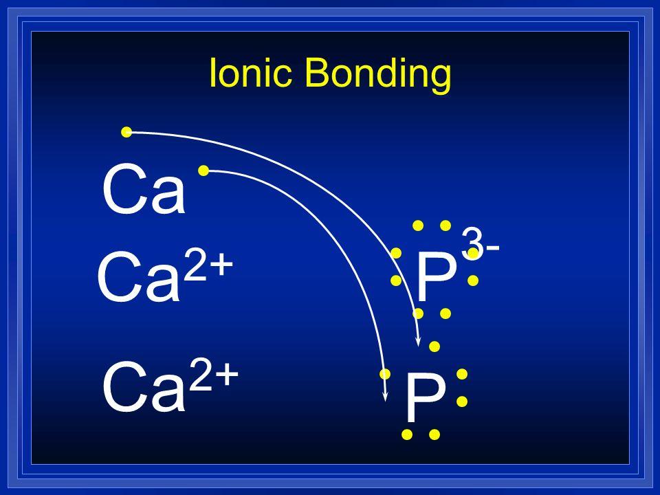 Ionic Bonding Ca Ca2+ P3- Ca2+ P