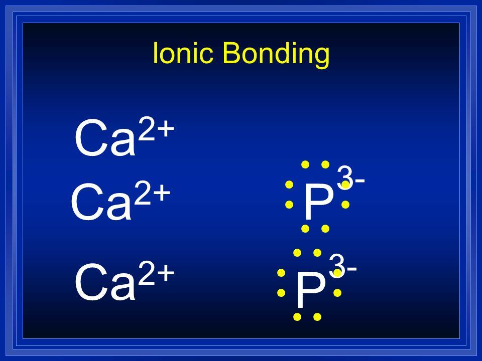 Ionic Bonding Ca2+ Ca2+ P3- Ca2+ P3-