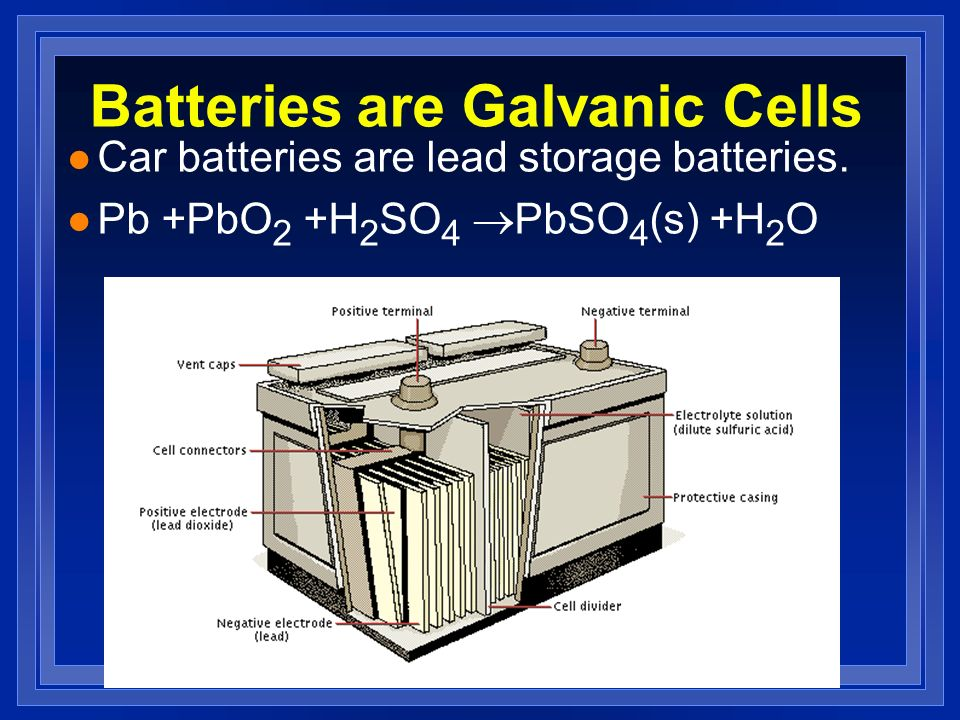 Batteries are Galvanic Cells