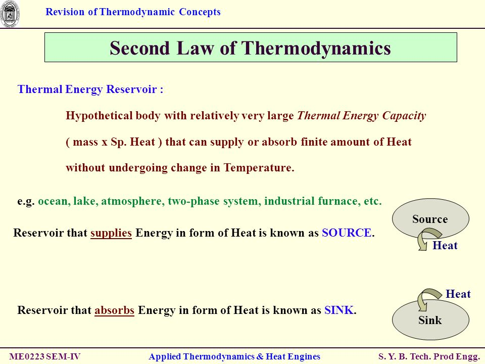 the application of thermodynamics in industry 2001-6-9 it is also possible to achieve chemical equilibrium in a reaction involving substances in more than one  a process that involves the application of heat.