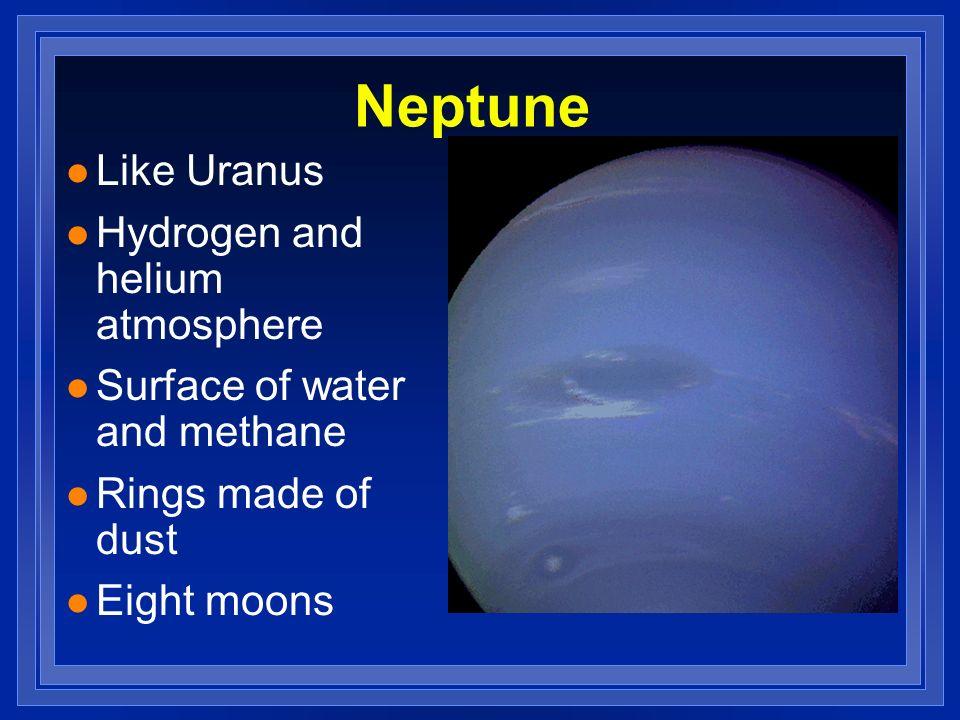 Neptune Like Uranus Hydrogen and helium atmosphere