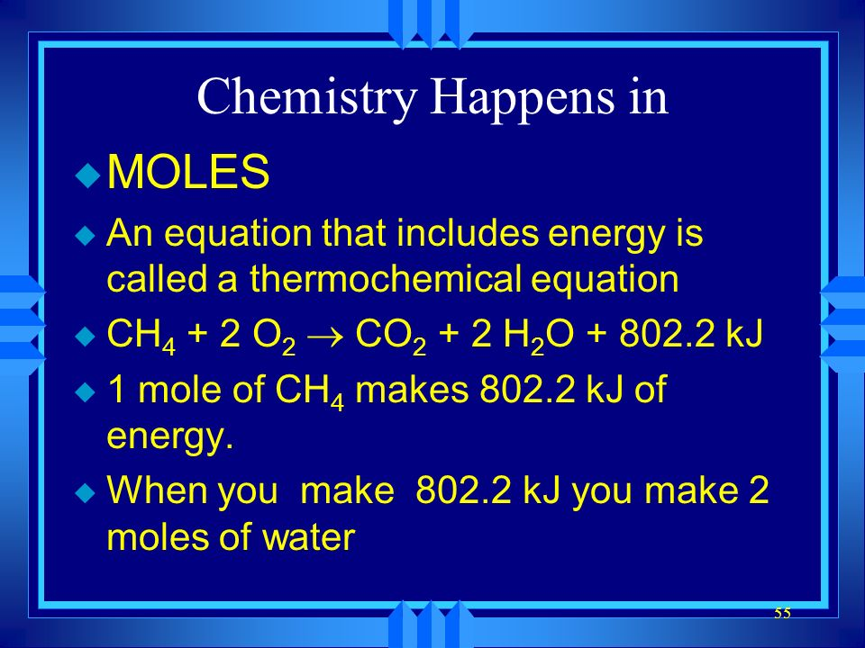 Chemistry Happens in MOLES