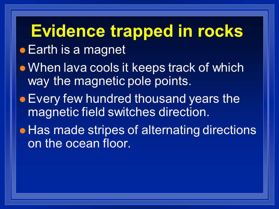 Evidence trapped in rocks