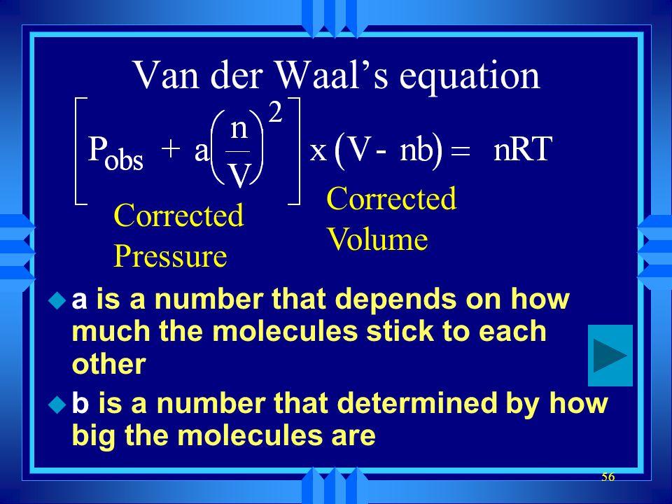 Van der Waal's equation
