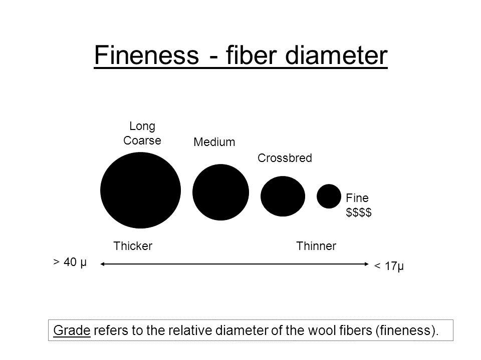 Fineness - fiber diameter