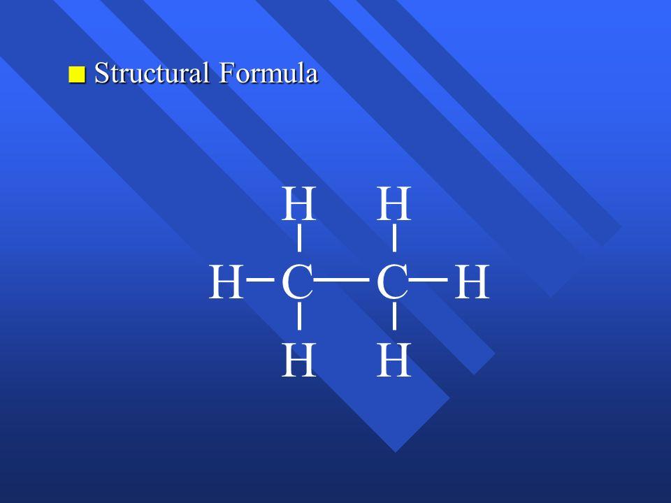 Structural Formula H H H C C H H H