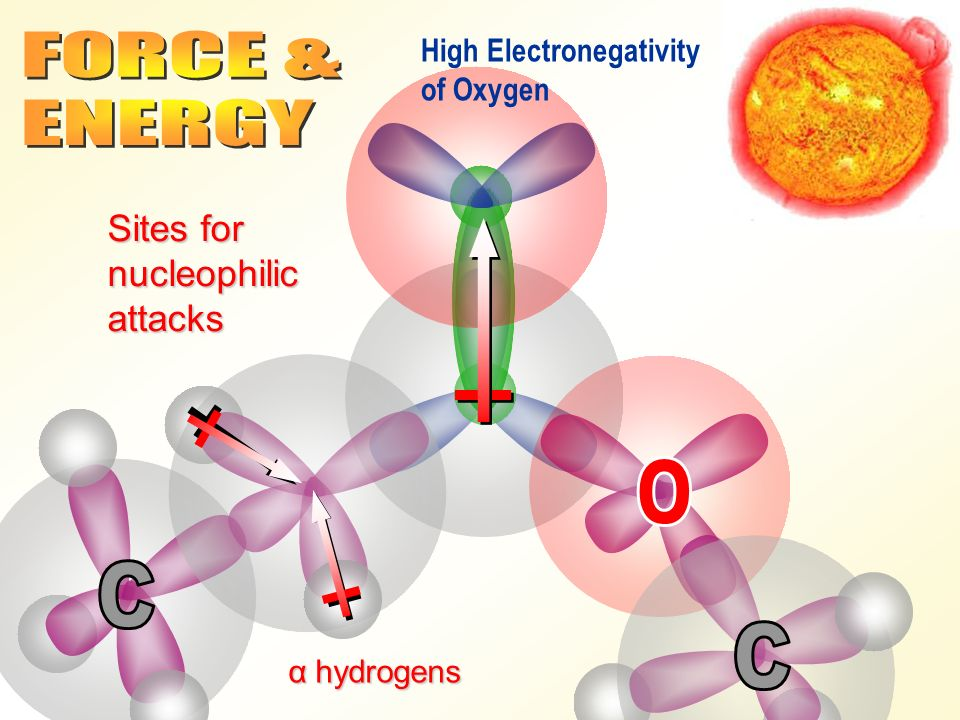 FORCE & ENERGY O C C Sites for nucleophilic attacks