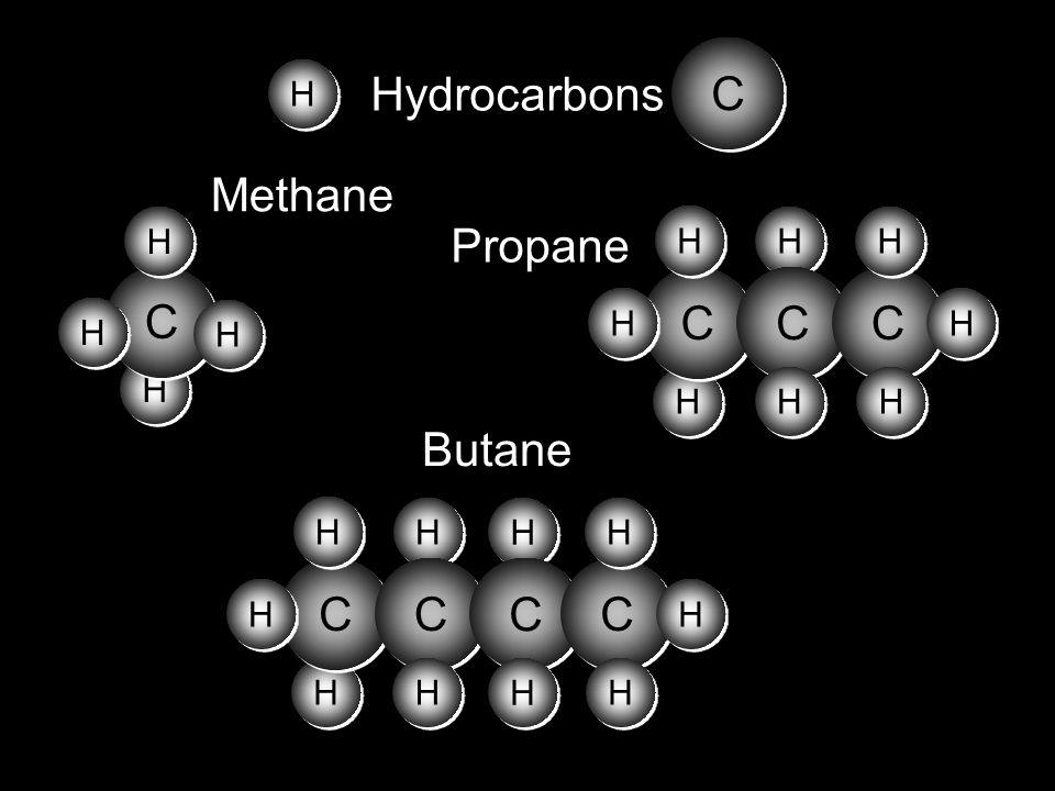 C H Hydrocarbons H C Methane Propane H C Butane H C