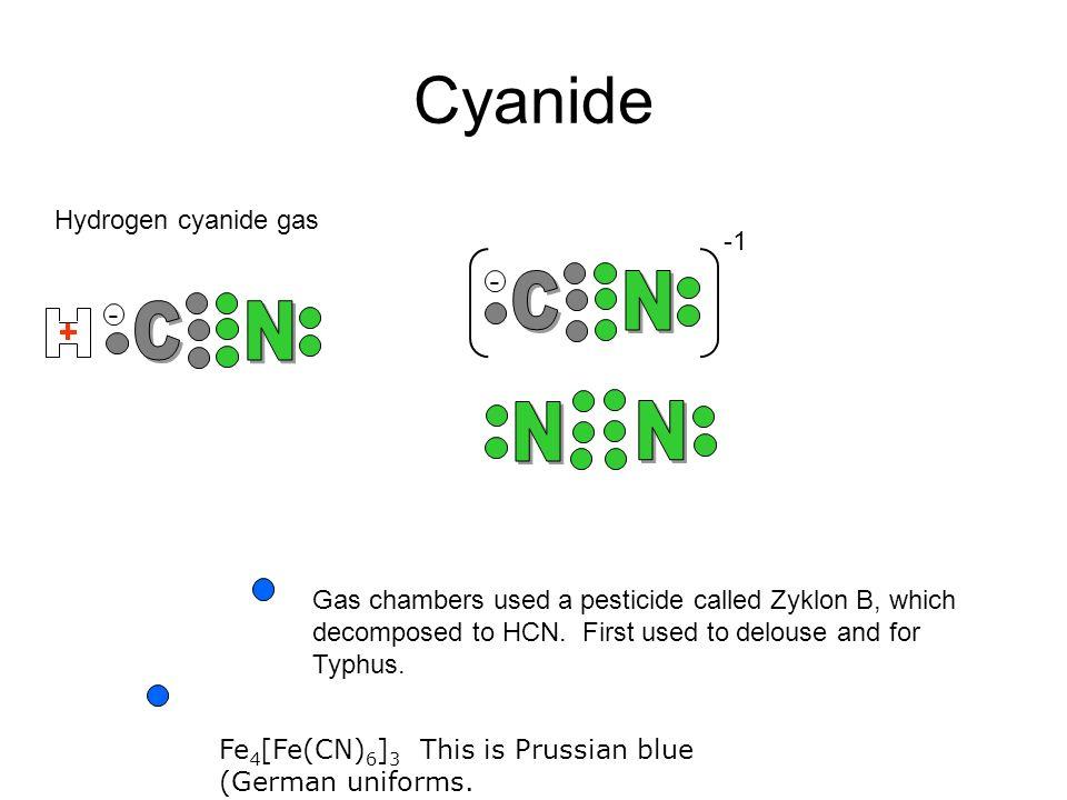 Cyanide C N C N N N - - Hydrogen cyanide gas -1
