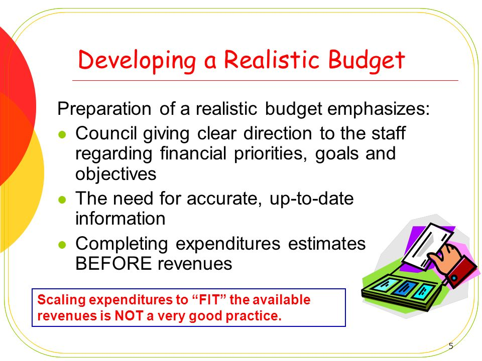 Developing a Realistic Budget