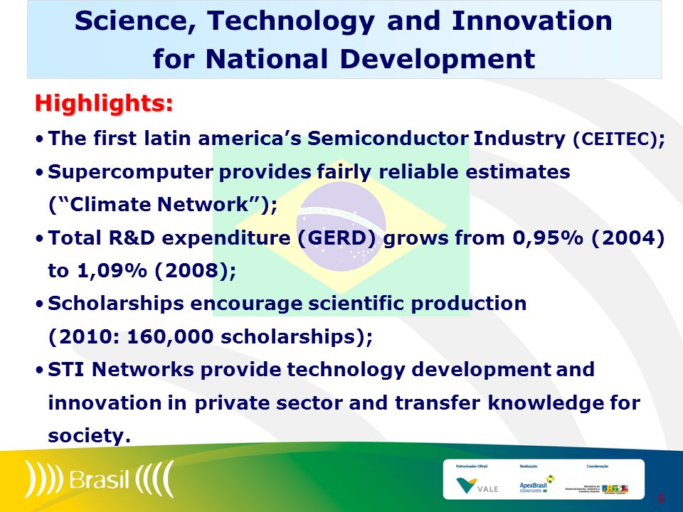 Science, Technology and Innovation for National Development