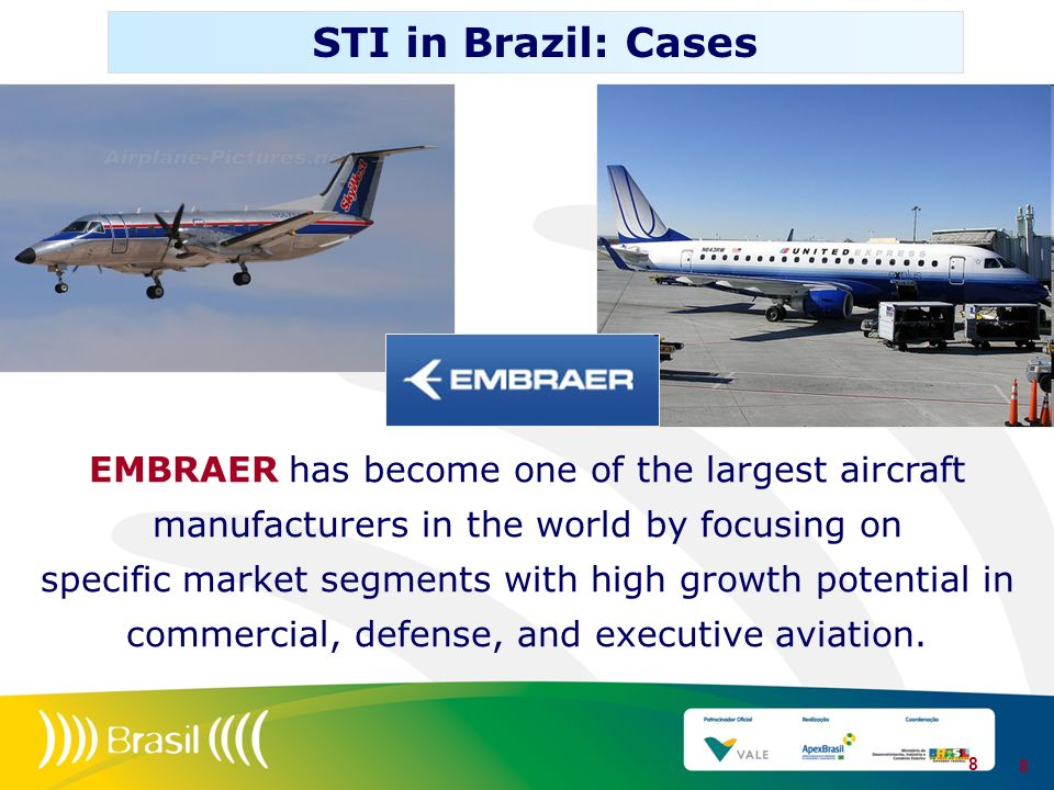 STI in Brazil: Cases EMBRAER has become one of the largest aircraft manufacturers in the world by focusing on.