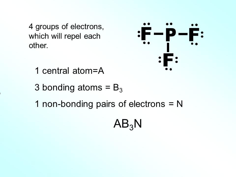 P F AB3N 1 central atom=A 3 bonding atoms = B3