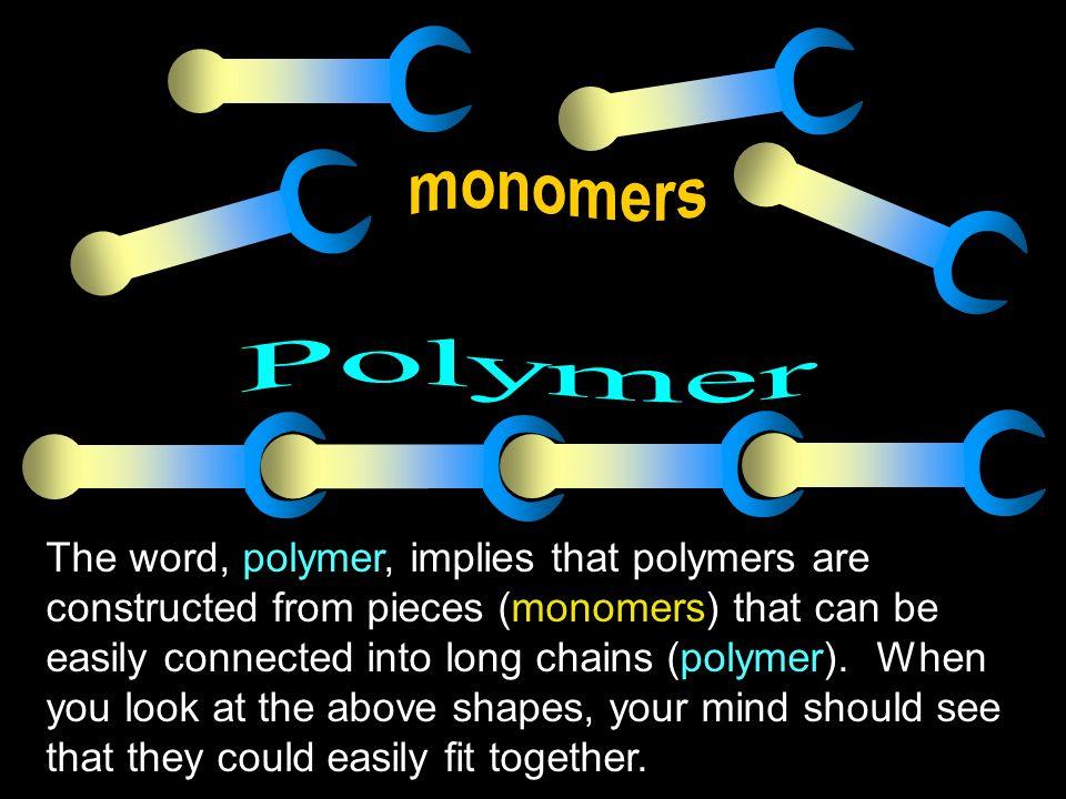 monomers Polymer.