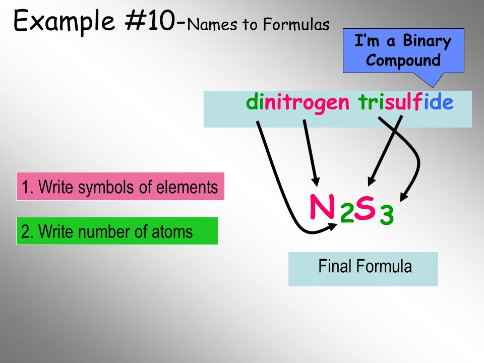 Example #10-Names to Formulas