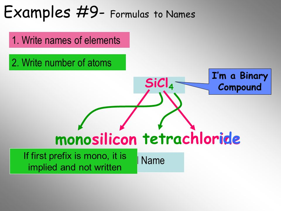 Examples #9- Formulas to Names
