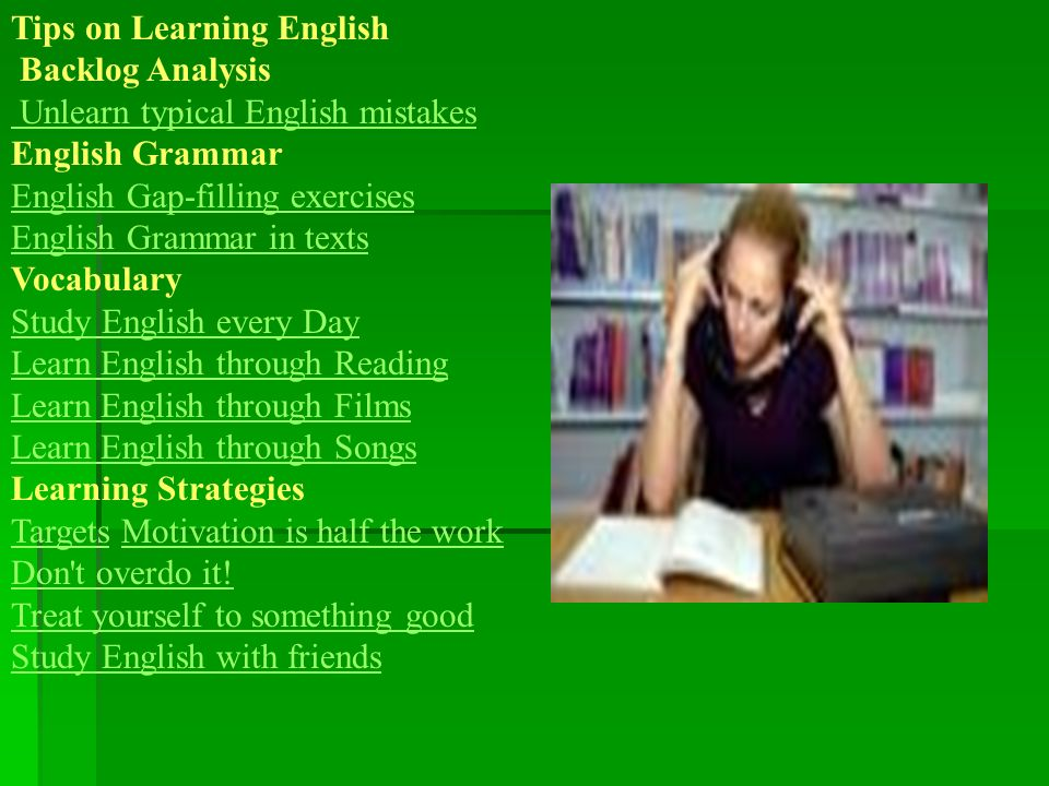 Tips on Learning English