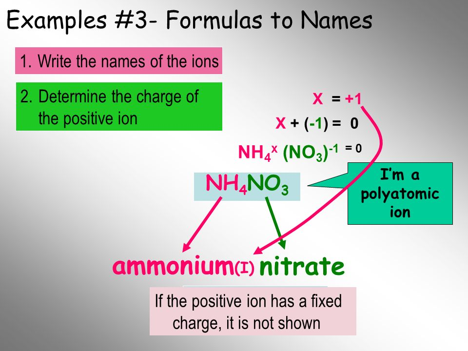 Examples #3- Formulas to Names