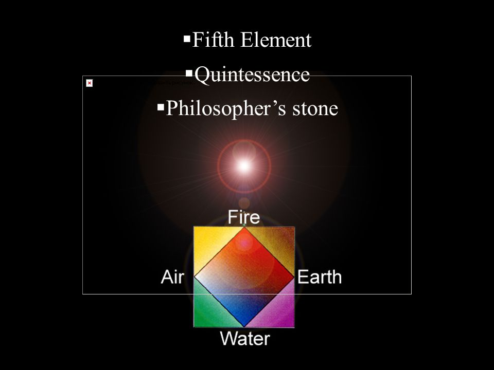 Fifth Element Quintessence Philosopher's stone