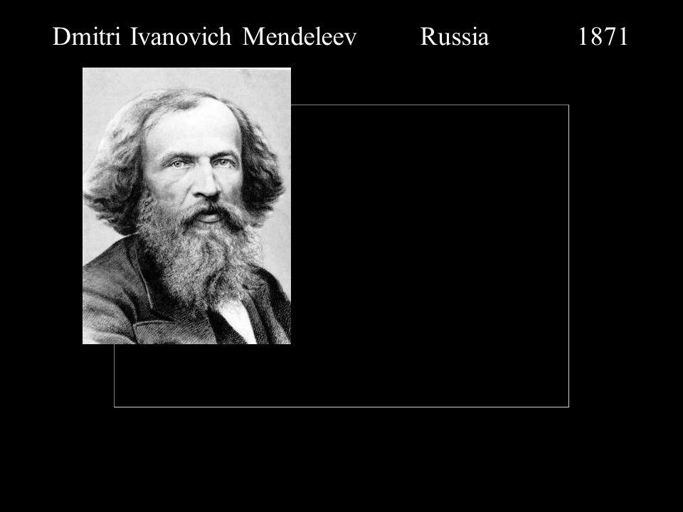 Dmitri Ivanovich Mendeleev Russia 1871