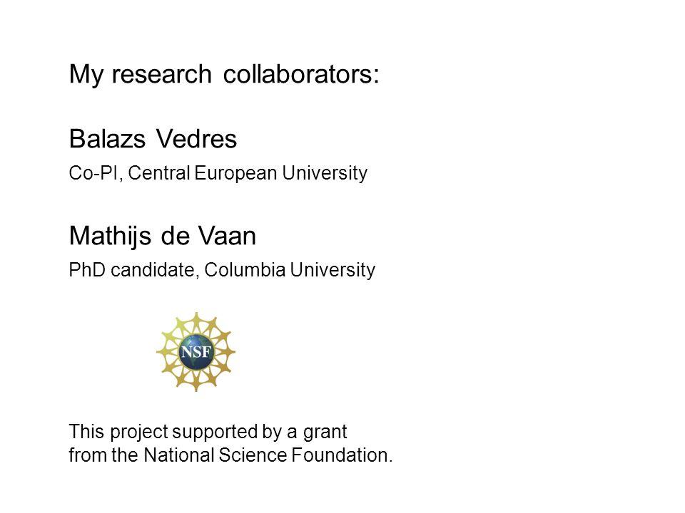 My research collaborators: