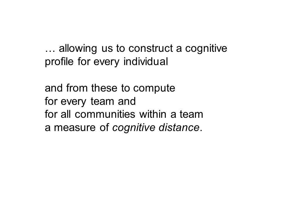… allowing us to construct a cognitive profile for every individual