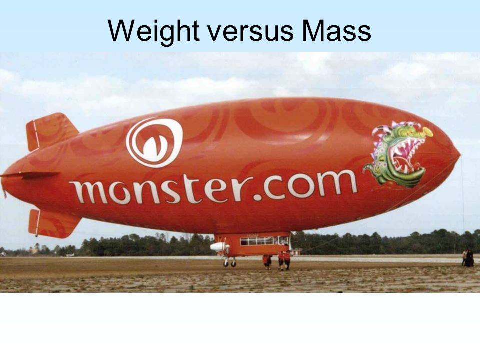 Weight versus Mass