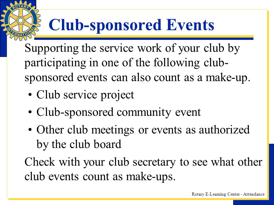 Club-sponsored Events