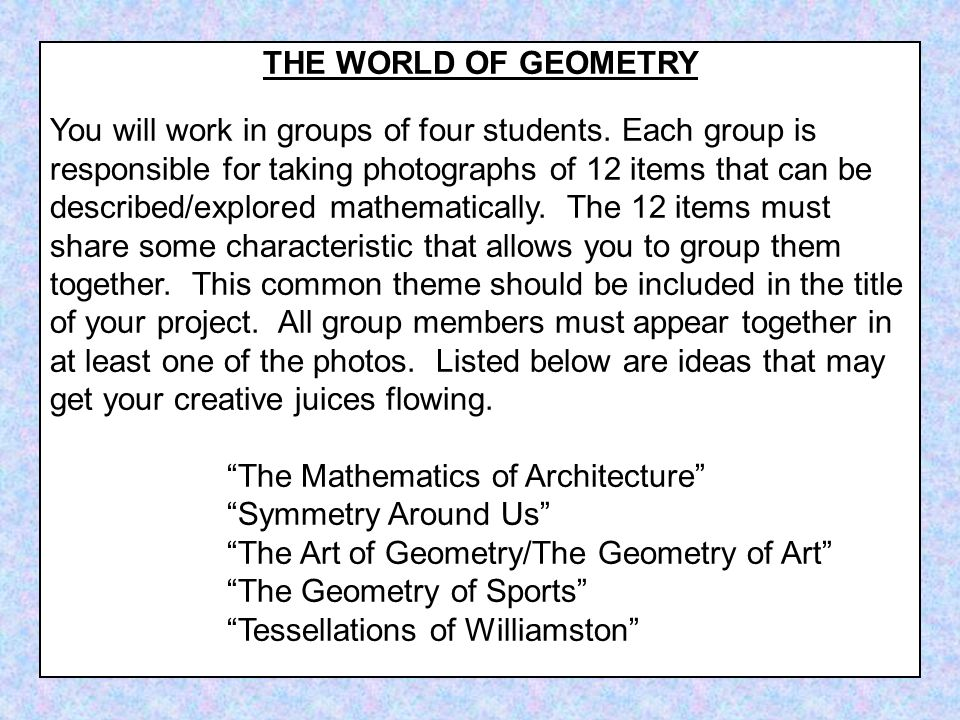 THE WORLD OF GEOMETRY