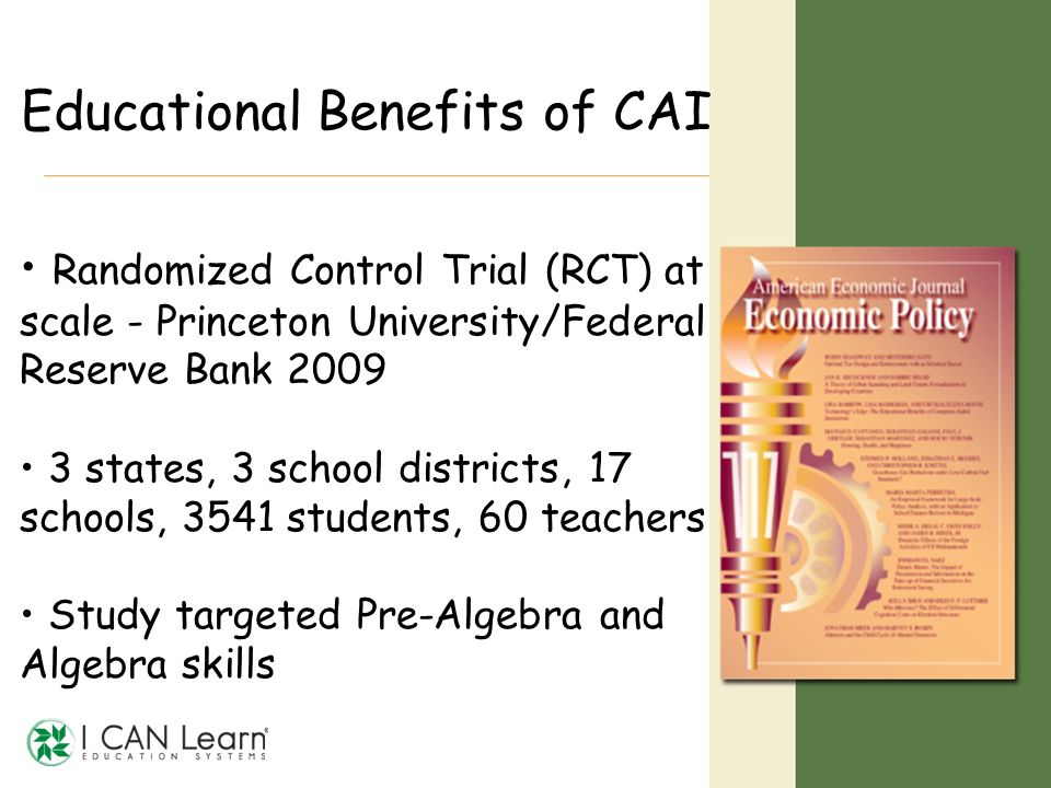 Educational Benefits of CAI
