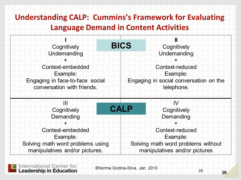Understanding CALP: Cummins's Framework for Evaluating Language Demand in Content Activities