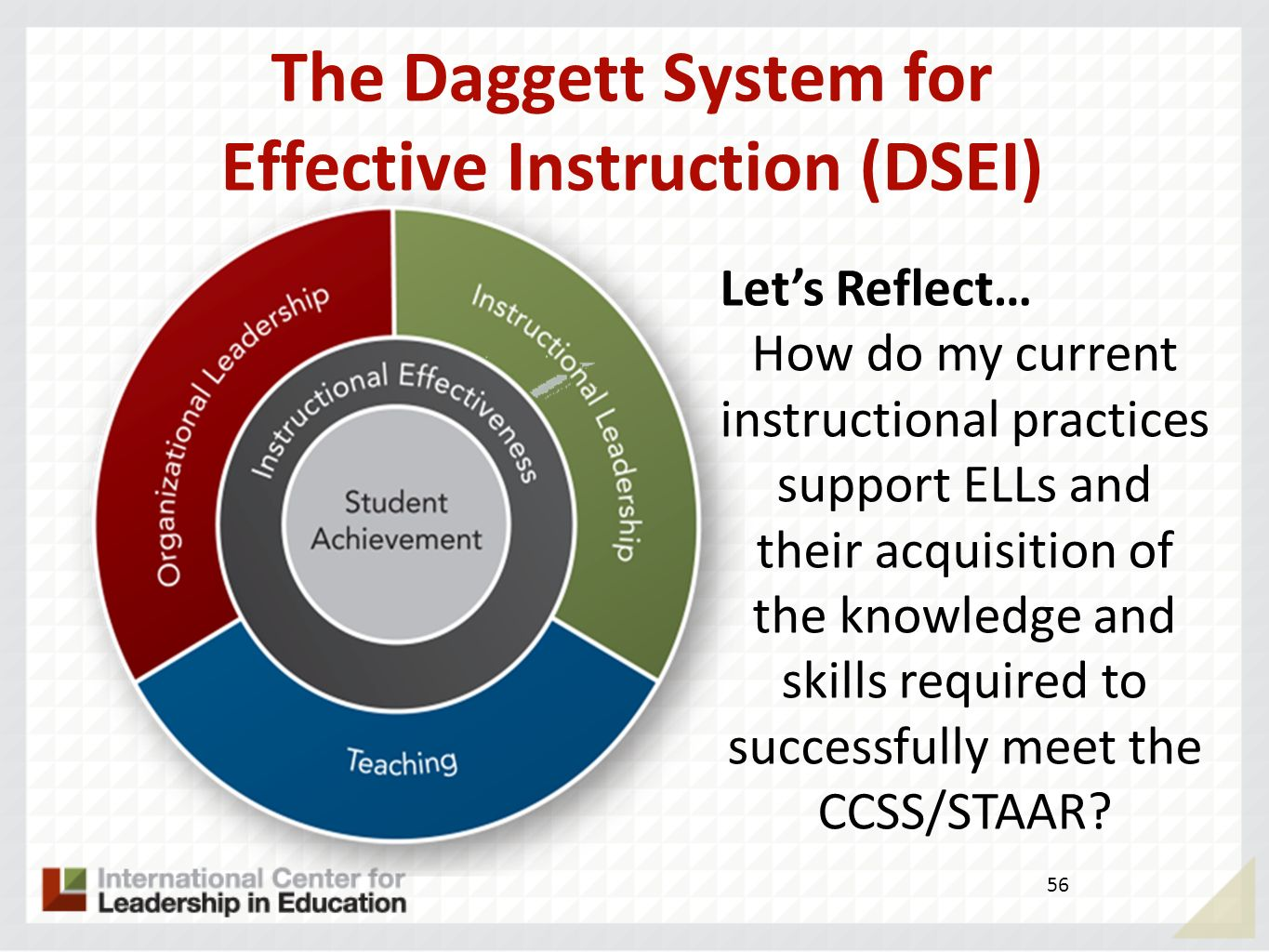 The Daggett System for Effective Instruction (DSEI)