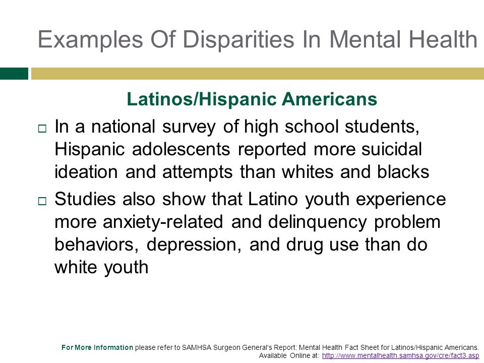 Examples Of Mental Health Idealstalist