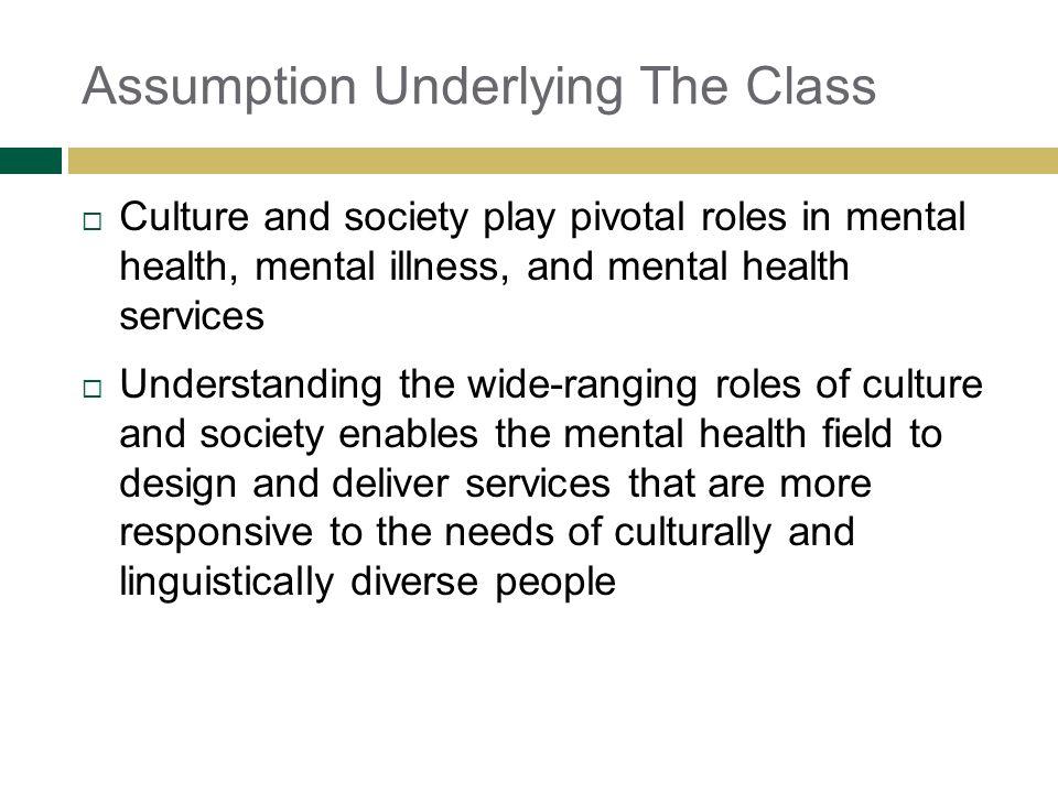 Assumption Underlying The Class