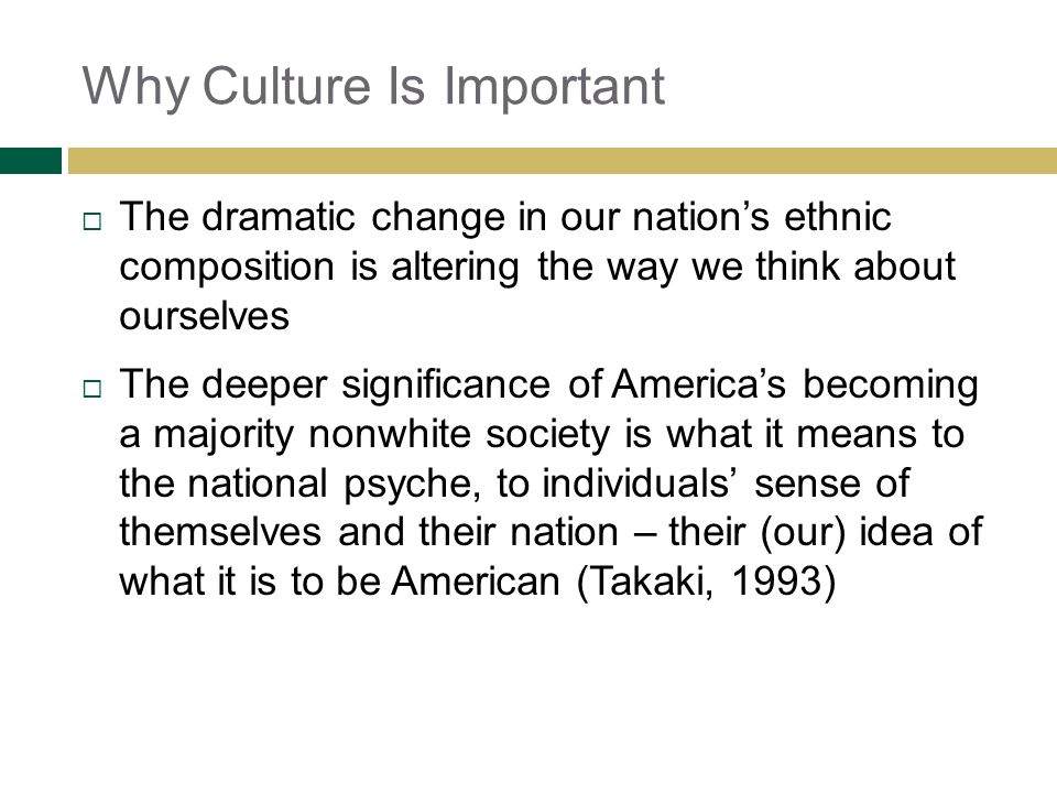 Why Culture Is Important