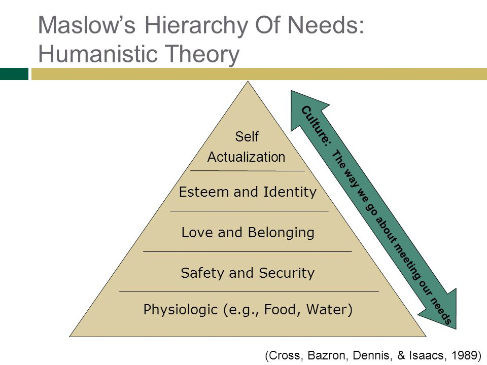 Maslow's Hierarchy Of Needs: Humanistic Theory