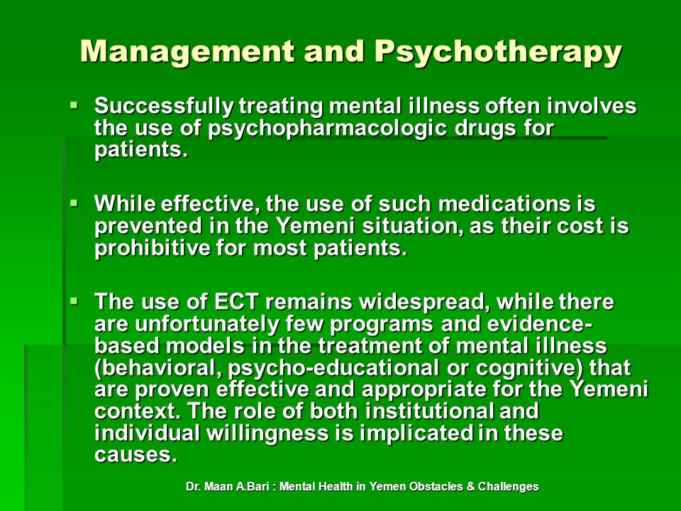 Management and Psychotherapy