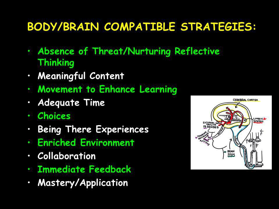 BODY/BRAIN COMPATIBLE STRATEGIES: