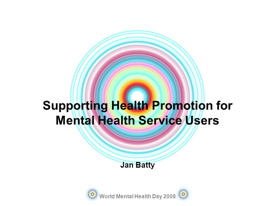 Supporting Health Promotion for Mental Health Service Users