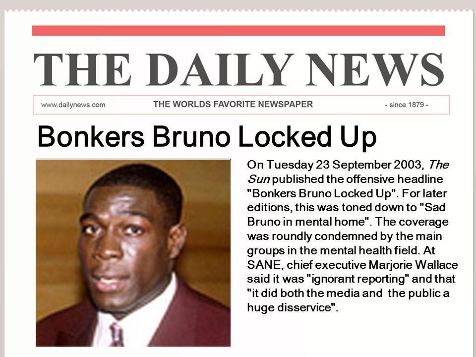 Bonkers Bruno Locked Up